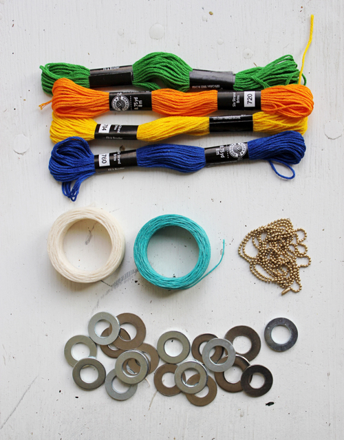 DIY: Wrapped Washer Necklaces - With an easy version for Kids!  |  Design Mom