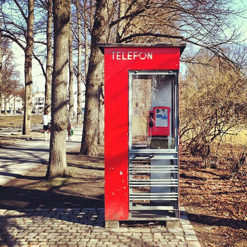 Telephone Booth in Oslo, Norway