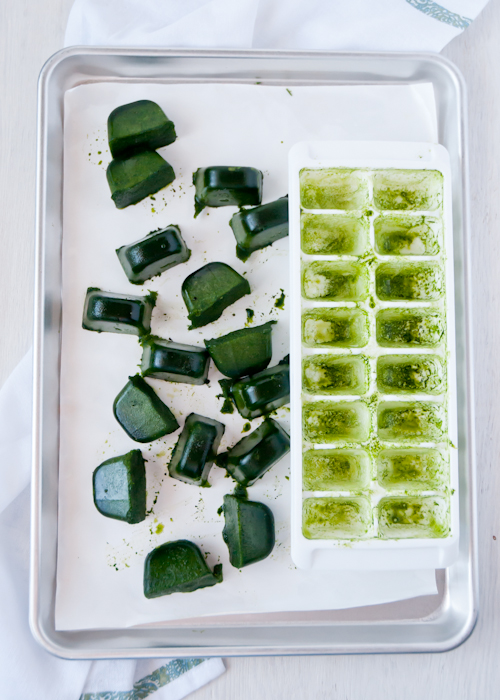 How to: Pureed Spinach Cubes for Green Smoothies