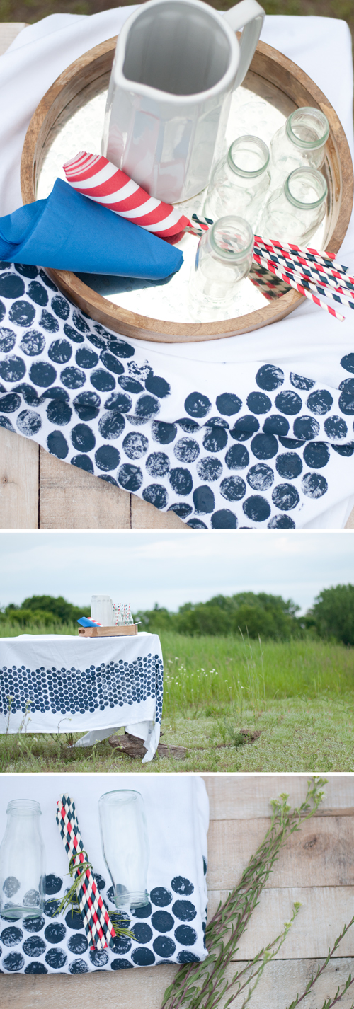 DIY: Bubble Wrap Print Tablecloth  |  Design Mom