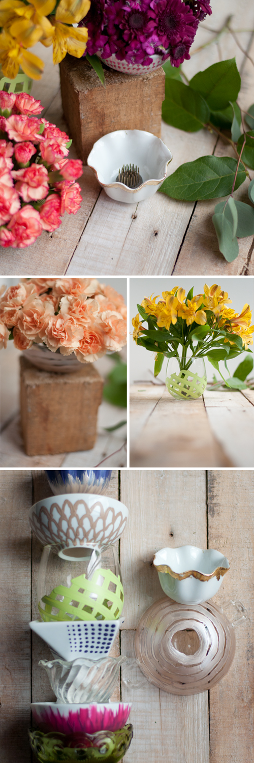 DIY: Flower Frog Bowls. They'll make even inexpensive grocery store flowers look stunning!  |  Design Mom