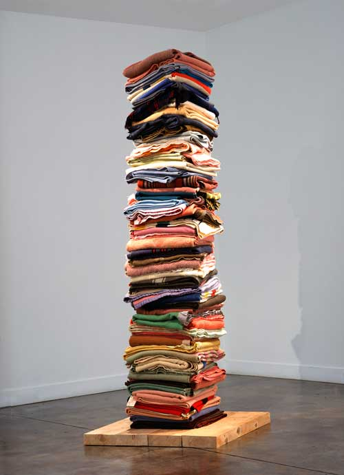 Marie Watt's Blanket Tower