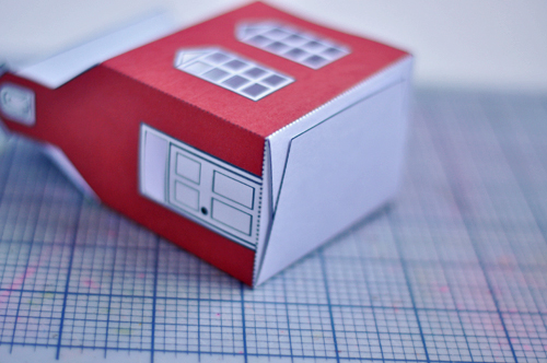 Print & Fold Schoolhouse Gift Box. Free Printable!  |  Design Mom
