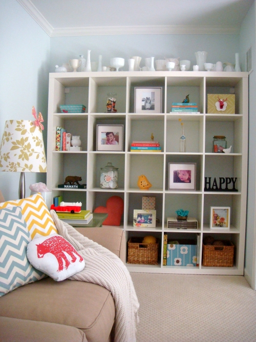 Family room shelves