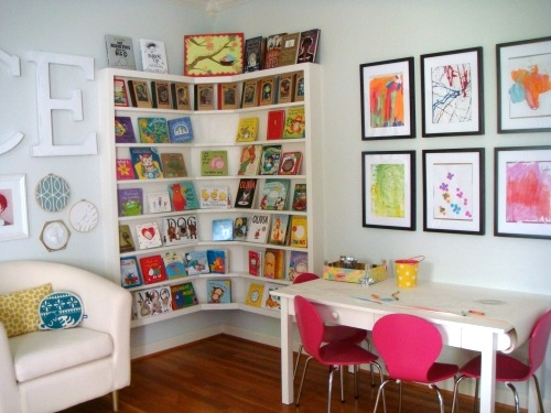 How to organize a child 39 s library for Living room ideas kids