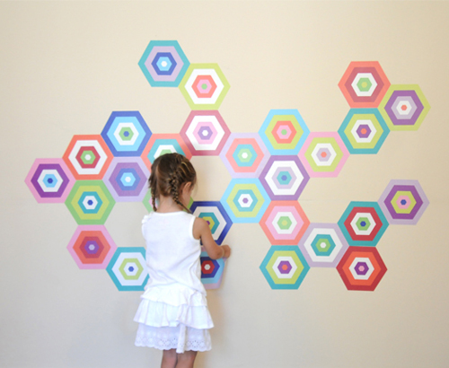 oversize fabric wall decals by Pop & Lolli