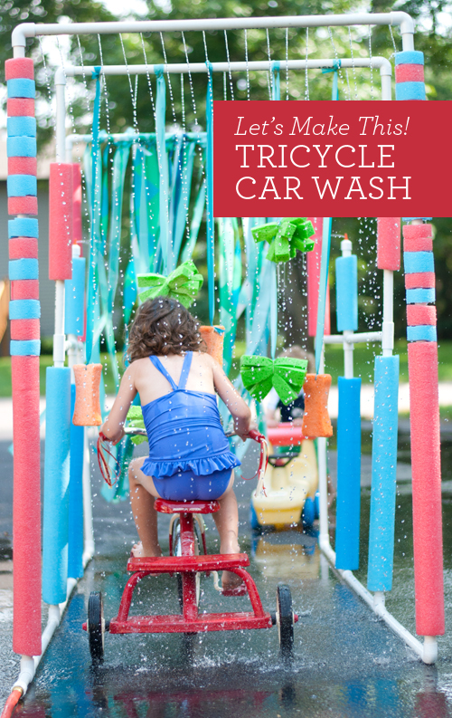 DIY: Tricycle Carwash. Follow these easy plans and have the best summer ever!  |  Design Mom