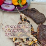 grilled steak and chicken skewers - TITLE
