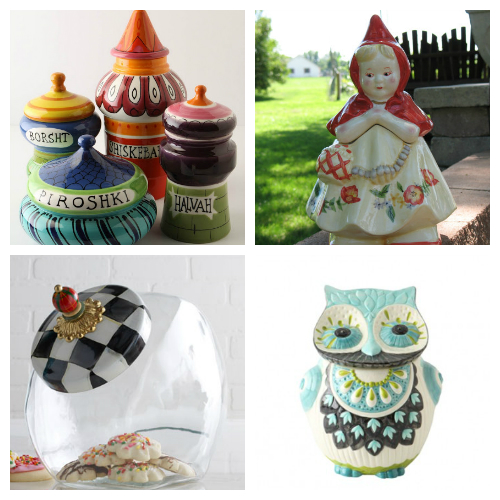 Super cute cookie jars for your kitchen!