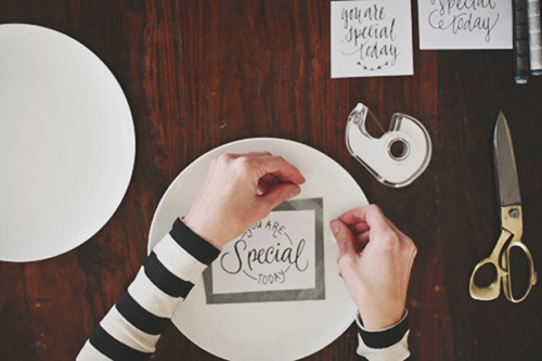 DIY: You Are Special Today Plate with 3 FREE Designs  |  PBK Building Blocks