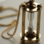 Hourglass charm by Freshly Fig on Etsy.