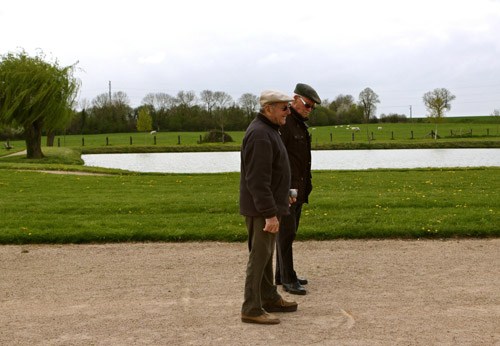 French game of pétanque.