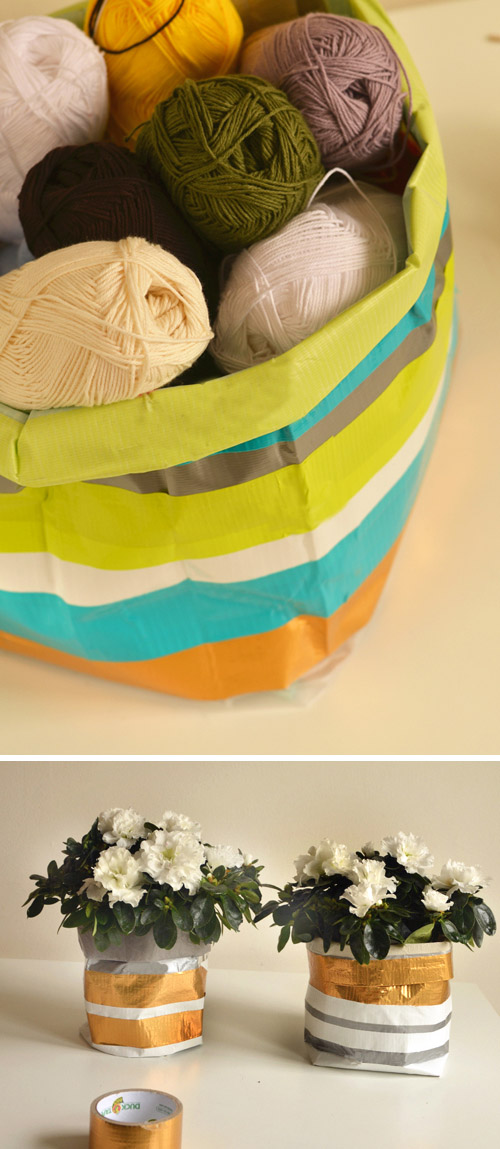 Big & Small Project: Sturdy Household Containers made from Duct Tape & Washi Tape.   |   Design Mom