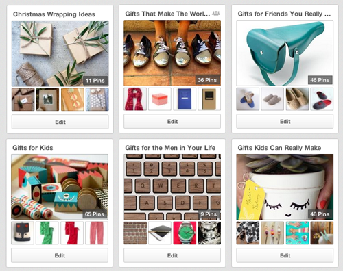 Design Mom gift guide boards