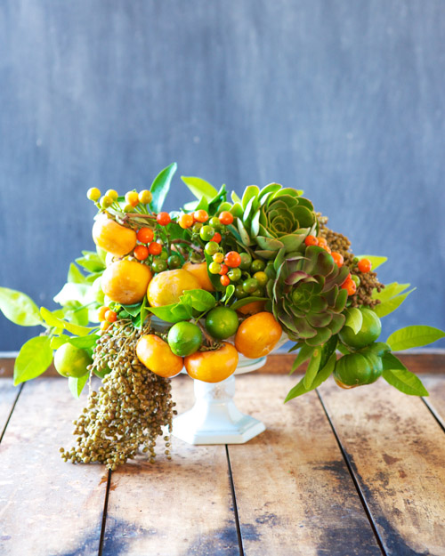 Autumnal Arrangement for Thanksgiving. Step-by-step instructions.