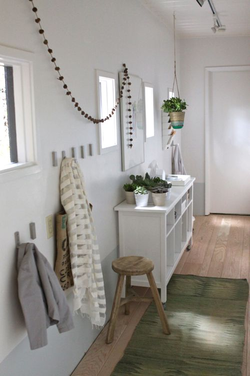 The Treehouse: Hallway Turned Mudroom — Make it Happen for Under $300!