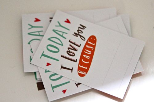 I love you because mini cards by Emily McDowell