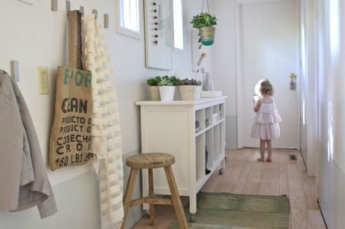Convert an Unused Hallway Into a Light, Bright, Organized Entryway   |   Design Mom
