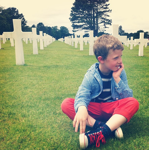 Oscar Blair at American Military Cemetery Normandy