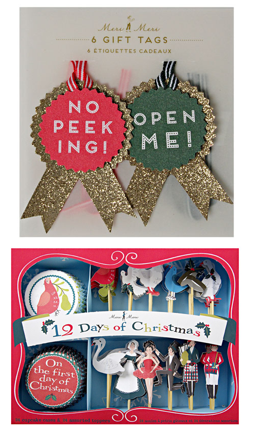 Meri Meri Gift Tags and Cupcake Set