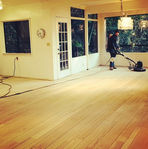buffing wood floors