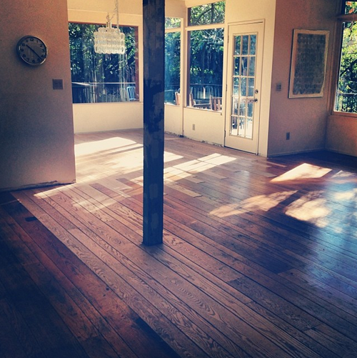 floors cleared for sanding