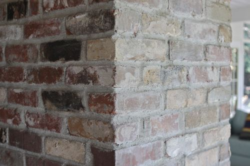 "Whitewashed Bricks Tutorial - using natural paint that let's the bricks ""breathe""  