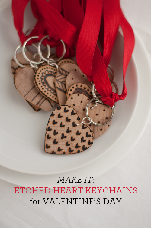 http://www.designmom.com/2014/02/etched-wooden-heart-key-fobs/