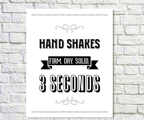 Handshakes Print by Paperchat on Etsy