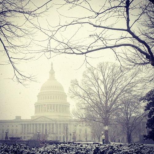 Washington DC in the Snow