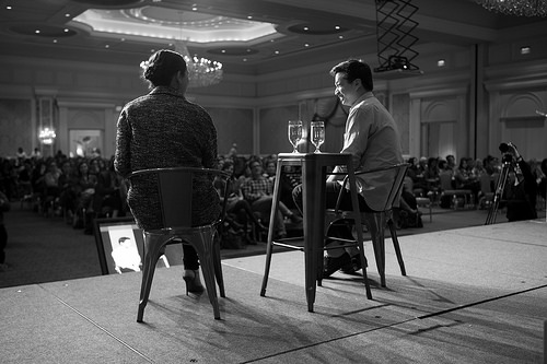 Ben Silbermann and Gabrielle Blair. Alt Summit Keynote, January 2014.