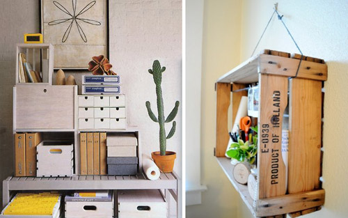 crates shelving