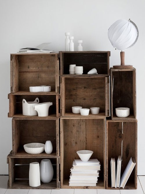 design labryinth crate shelves