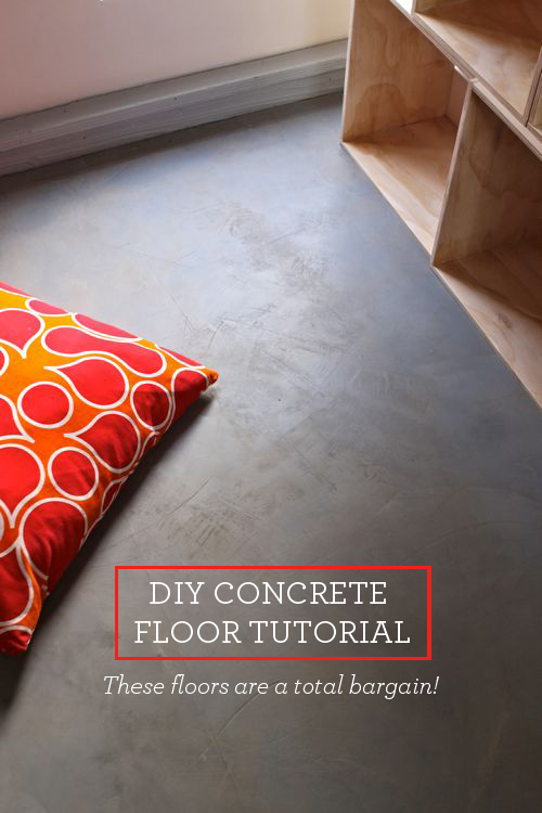 Diy concrete floor this bargain version is so easy to create for What can i do to my concrete floor
