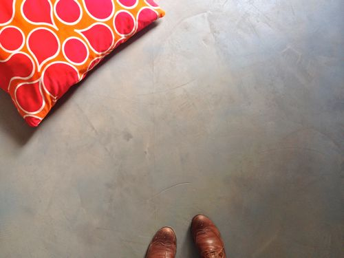 DIY Concrete Floors — Easy & Inexpensive!   |   Design Mom