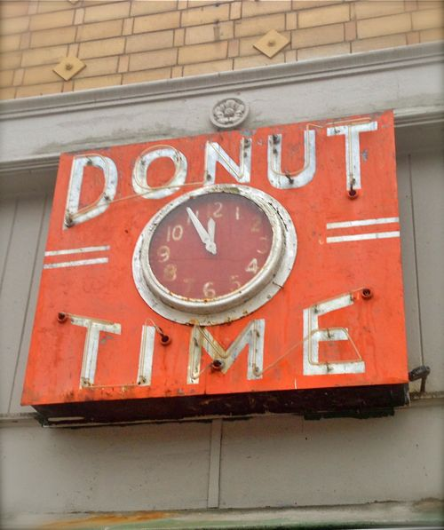 Donut Time sign in Oakland, California