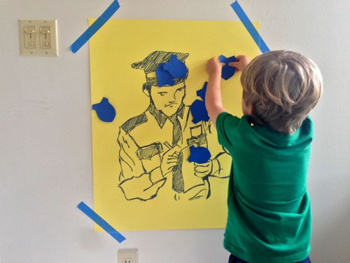 Policeman Theme Birthday Party Ideas  |  Design Mom