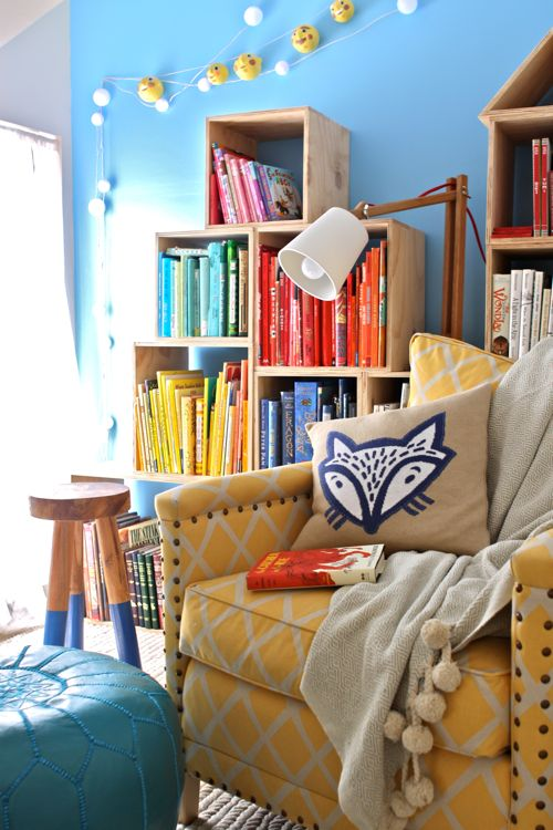 Turn a small, unused space into an inviting Reading Nook   |   Design Mom