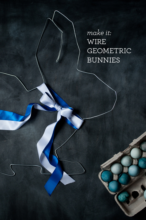 DIY Wire Geometric Bunnies. Oversize and Mini. Perfect for Easter!    |   Design Mom