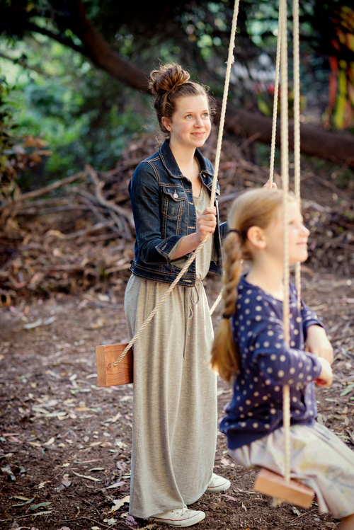 Blair Family Portrait in Swings   |   Maude