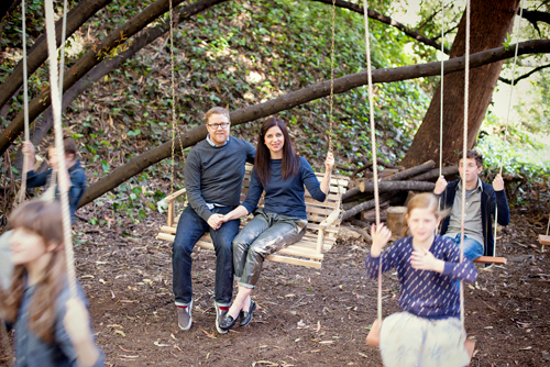 Family Portrait in Swings   |   Design Mom