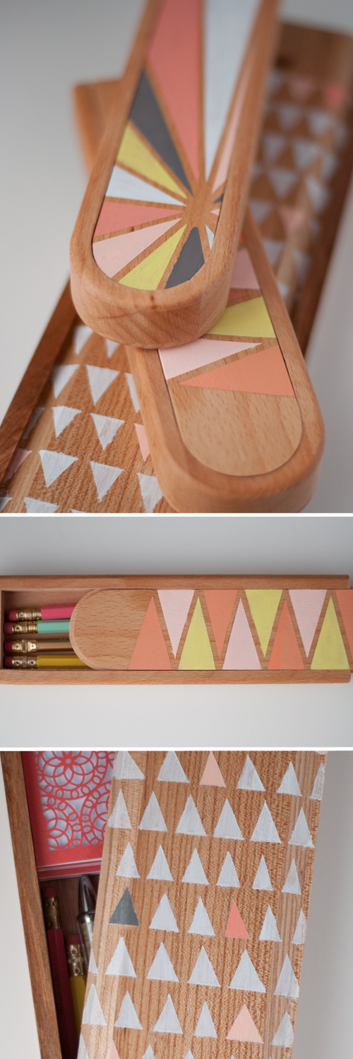 DIY: Pretty Painted Pencil Boxes. Good looking on your desk, and they make a great gift!   |   Design Mom