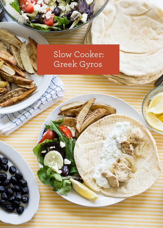 Slow Cooker Recipe: Greek Gyros   |   Design Mom  #crockpot