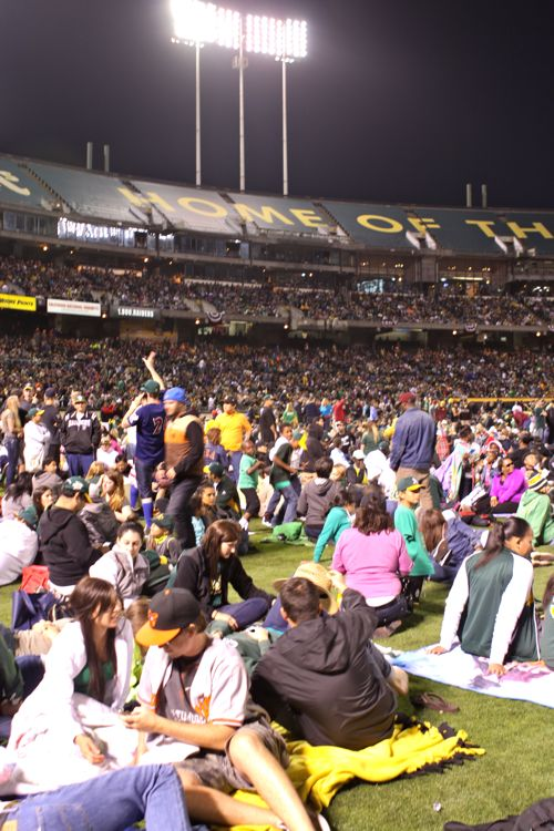 A's Game plus Fireworks23