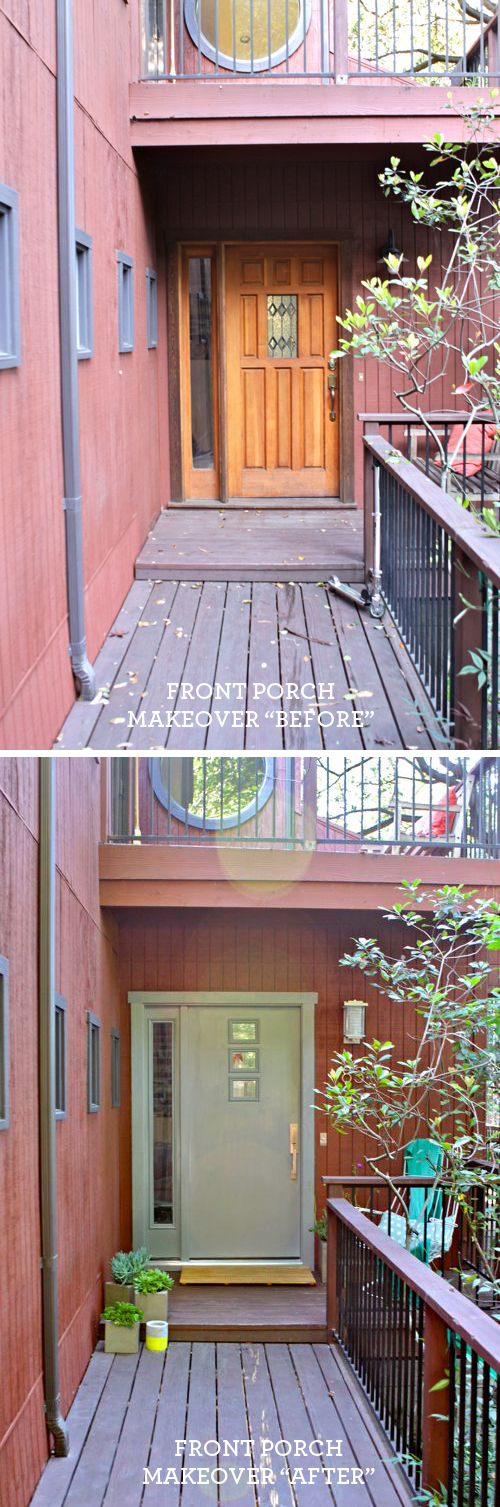 Front Porch Makeover Before+After