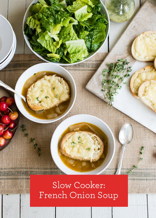 Slow Cooker Recipe: French Onion Soup  |  Design Mom  #crockpot
