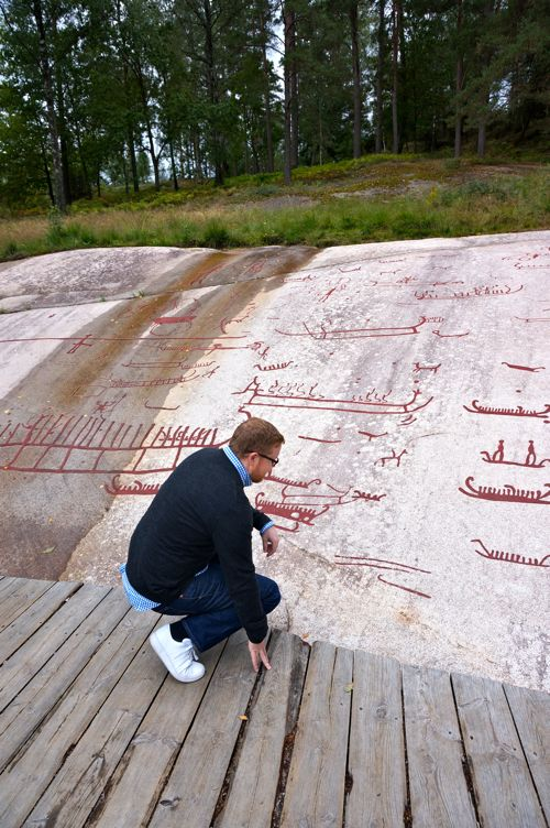 Rock Carvings from the Bronze Age. At Vitlycke Museum in West Sweden.