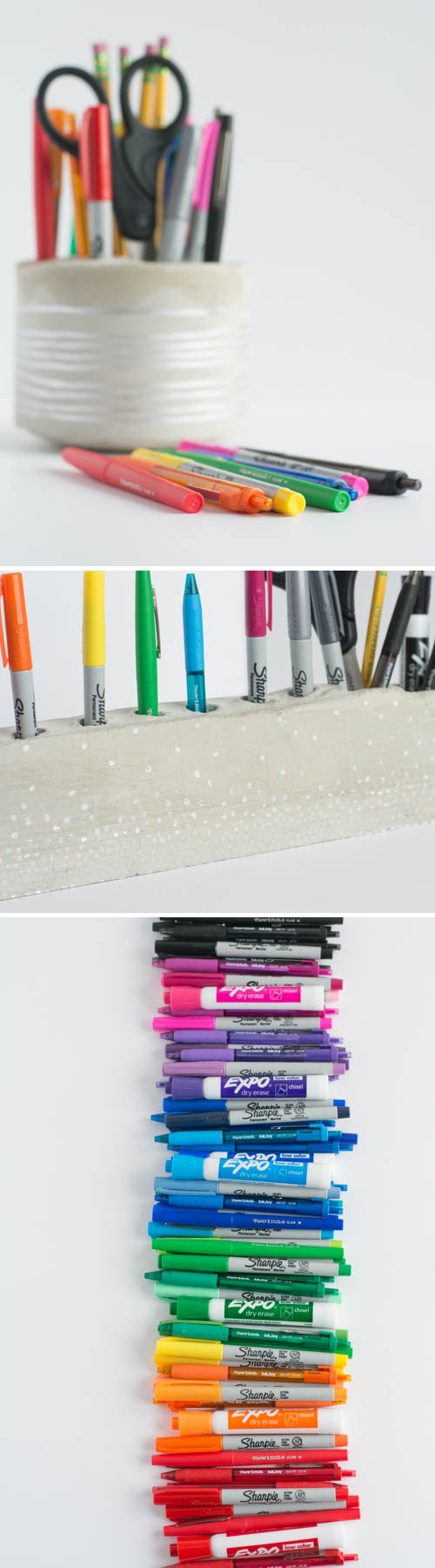 DIY: Cement Desk Organizer and Pencil Holder   |   Design Mom
