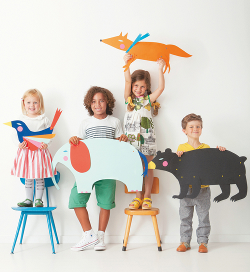 Animal Puppets from Playful - a book of creative projects for kids by Merrilee Liddiard