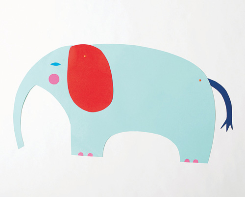 Elephant Puppet from Playful - a book of creative projects for kids by Merrilee Liddiard